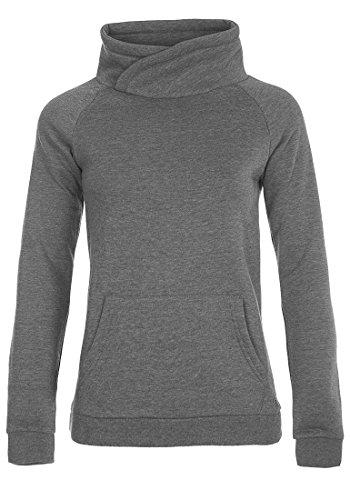 DESIRES DerbyCrossTube Damen Sweatshirt Pullover Sweater Mit Stehkragen Und Cross-Over-Ausschnitt, Größe:XL, Farbe:Grey Melange (8236) - Crossover Neck Sweater