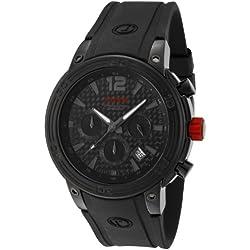 Red Line-rl-50033-bb-01-Zeigt Herren-Quartz Chronograph Armband Gummi schwarz