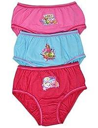 Aumsaa Filles Enfants Personnages 100% Culotte Coton sous-Vêtement  Combinaisons Slip Pack ... d1f21879172