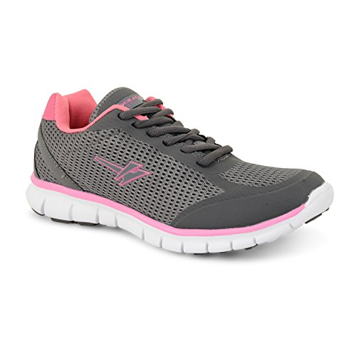 Gola Active Termas Womens Athletic Baskets de cours'à pied ultralégère et respirante Rose - Grey Pink