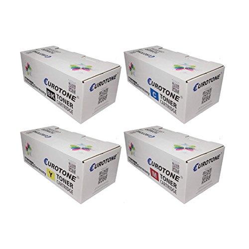 Preisvergleich Produktbild 4x Eurotone Toner für Epson WorkForce AL-C 300 TN DN N DTN ersetzt C13S050747 - C13S050750 Set
