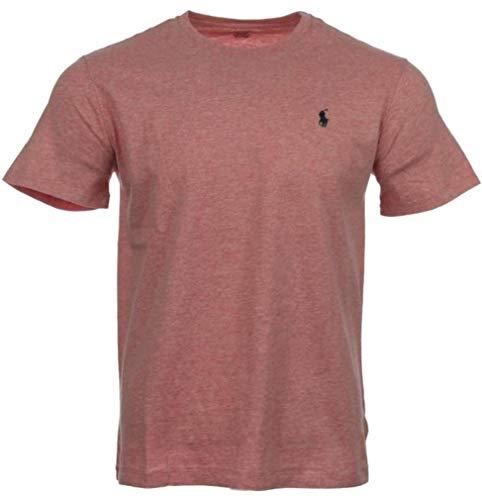 Ralph Lauren Herren T-Shirts Rundhals/V-Neck, (Pink meliert, M)