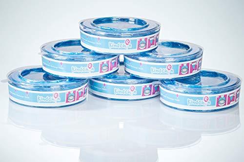 Kindchen Nachfüllkassetten für Angelcare Windeleimer, Angelcare Nachfüllkassetten, angenehmer Duft, 6er-Pack