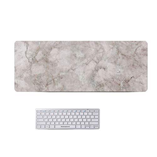 GX&XD Verlängert Marmor Spiele Mauspad Nicht-Slip Gummifuß Computer Tastatur-pad Tischunterlage Maserung des Holzes Anti-fray Tuch Tabelle Beschützer(3mm)-m 120x60cm(47x24inch) -
