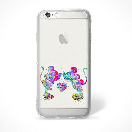 """iPhone 6/6s Fan Art Étui en Silicone / Coque de Gel pour Apple iPhone 6S 6 (4.7"""") / Protecteur D'écran et Chiffon / iCHOOSE / Mickey Aime Minnie"""