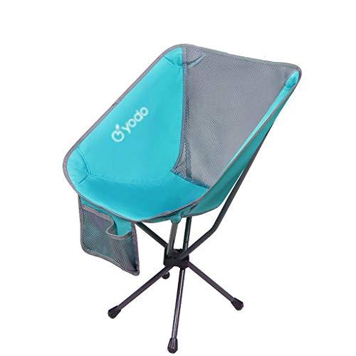WRZHRXXH Camping Stuhl Tragbar Falten Stuhl Im Freien Mini Rückenlehne Fischen Mond Stuhl Direktor Skizzieren BBQ Rucksack Park-Hellblau A