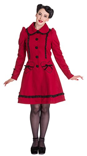 Hell Bunny Courtney Coat (Burgundy)