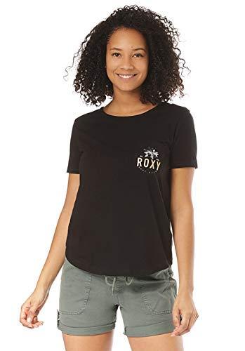 Roxy Damen Darlin Break Tee-Shirt, True Black, M -