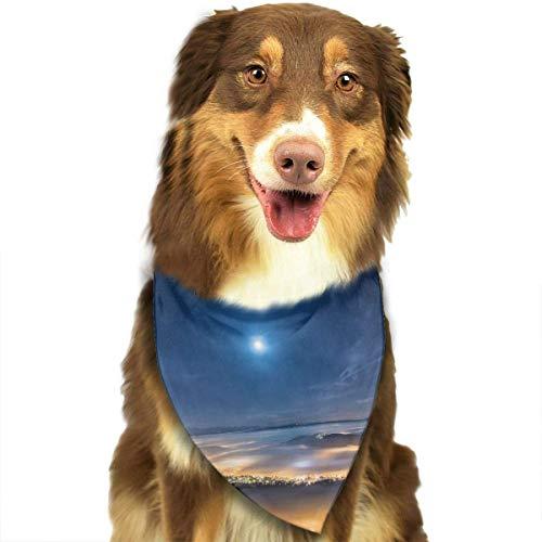 Gxdchfj Sky Earth Night Fashion Dog Bandana Pet Accessories Easy Wash - Night Sky Kostüm