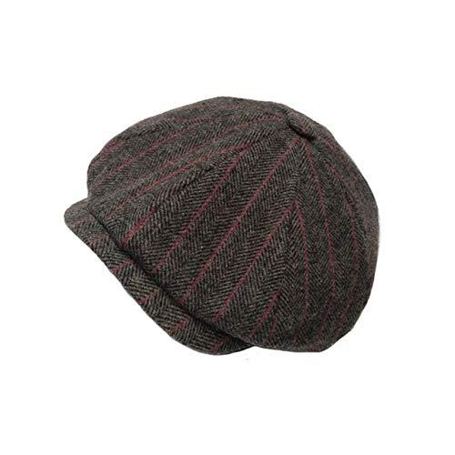 WSDMY Sombrero Cap Octagonal s Hombres Tweed Herringbone