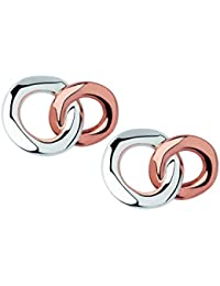 640e73b4f Links of London 20/20 Sterling Silver and Rose Gold Stud Earrings