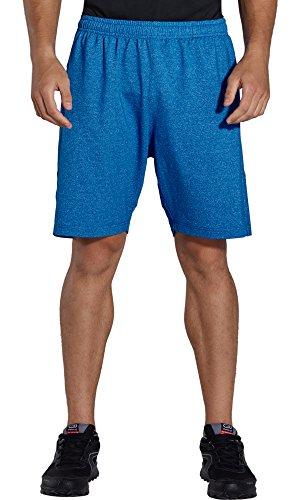 KomPrexx Sporthose Herren Kurz mit Taschen - Schnell Trocknend - Fitness Sport Shorts mit Kordelzug Kurze Trainingshose (2D-Royalblue,M)