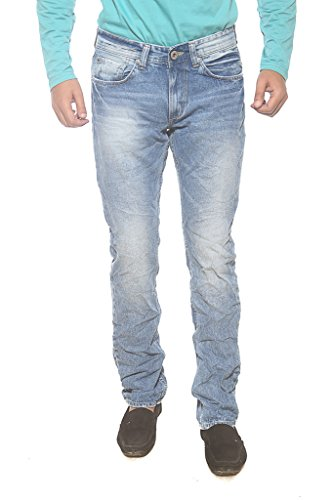 Spykar Mens Blue Slim Fit Low Rise Jeans (Rico) (32)  available at amazon for Rs.959