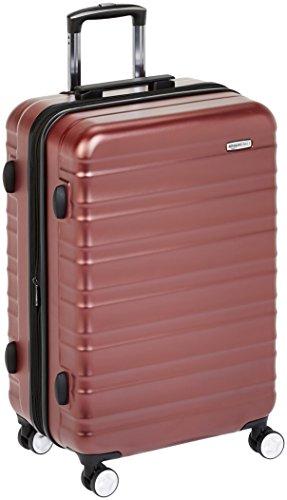 AmazonBasics - Trolley rigido Premium con rotelle pivotanti e lucchetto TSA integrato - 78 cm, Rosso