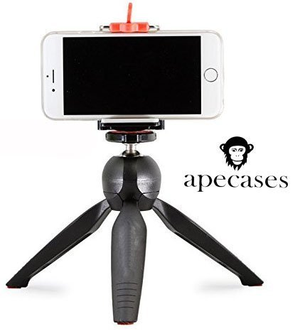 ApeCases Branded YunTeng 228 Mini Tripod + Phone Holder Clip Desktop Self-Tripod For SLR Camera