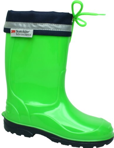 Jileon Bright Durable Kids PVC Wellies with Reflective Safety Strip