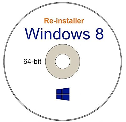 WINDOWS 8 64-Bit Compatible Versions Re-install Windows Factory Fresh! Recover, Repair, Re Install - Restore Boot Disc ~ Fix PC - Laptop - Desktop ~ AIO