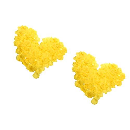 600 Stück Rosenblätter Blumen Bevorzugungen für Hochzeit Dekoration (Gelb) Gelb-hochzeit Bevorzugungen