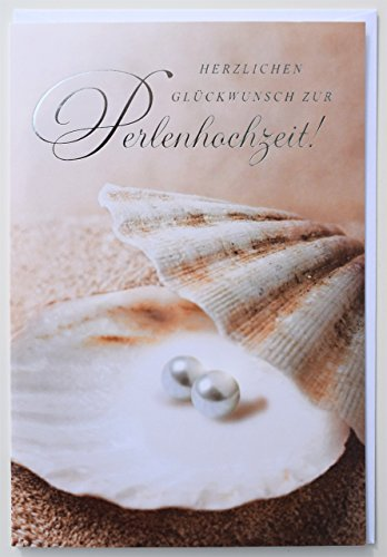 Glückwunschkarte Perlenhochzeit 30 Jahre Hochzeitstag