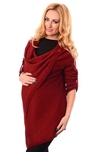 Purpless Maternity Modern Schwangerschaft Jacke Tragen 9005 Burgundy