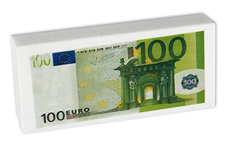 Radiergummi 100 Euro Bedruckt,Grün-Weiß,in Folie