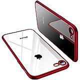 TORRAS iPhone 8 Hülle, iPhone 7 Hülle,Silikon Durchsichtig Ultra Dünne Schutzhülle Transparent Handyhülle [ Kratzfest ] Klar Soft Slim Case TPU Bumper für iPhone 7 (2016)/iPhone 8 (2017) - Rot