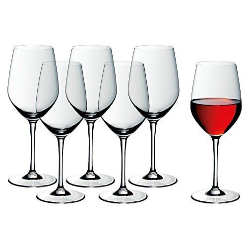 WMF easy Plus Rotwein Weingläser-Set, 6-teilig, 450ml, Kristallglas, spülmaschinenfest,...