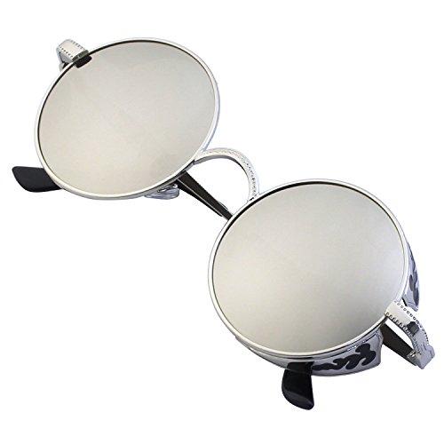 GQUEEN Retro Round Steampunk Polarized Sunglasses MTS1 steampunk buy now online