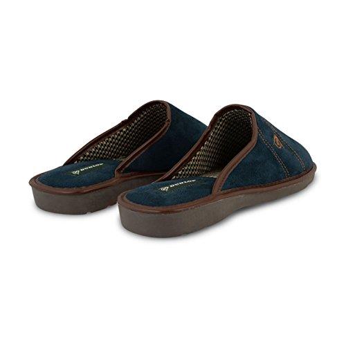 Herren Dunlop Mule Garten Innen Home Hausschuhe Textil Robuste Sohle Schuhe Größen New Navy