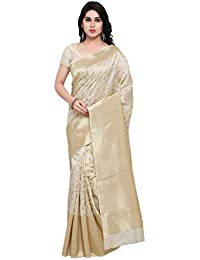 Varkala Silk Sarees Women's Art Silk Kanchipuram Saree With Blouse Piece(TD1129CM_Cream_Free Size)