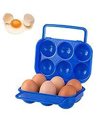 ad fresh Portable Folding Durable Plastic Egg Carry Holder Storage Box For 6 Pcs Egg - 1 Pc Random Color