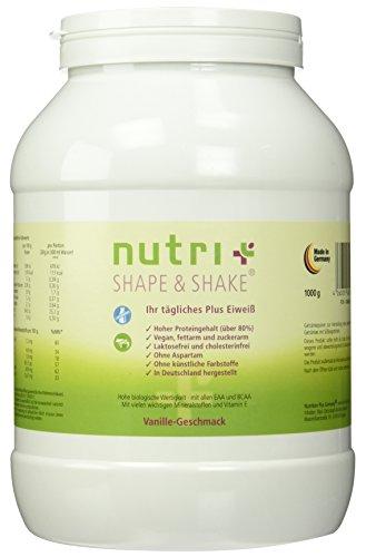 Nutri-Plus Shape & Shake Vegan Vanille 1kg - Veganer Proteinshake ohne Aspartam, Laktose & Milcheiweiß