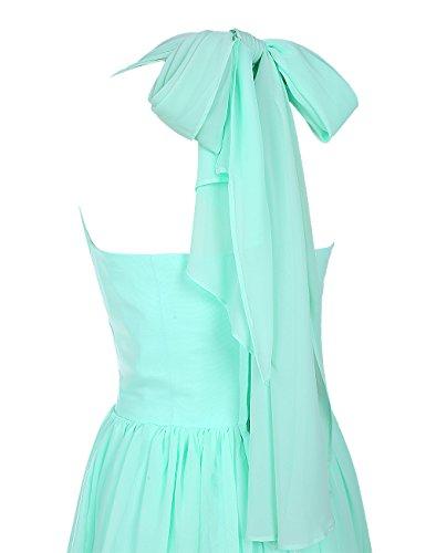 Dresstells Abiballkleid Damen Neckholder Chiffon Homecoming Kleider Party Kleider Grün