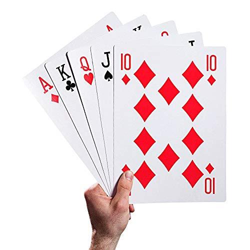 Zufriedenstellendes Produkt Magic Huge Poker Riesen-Spielkarten Kreative lustige Pokerkarten für Familien- und Outdoor-Spiele für - Erstellen Sie Ein Joker Kostüm