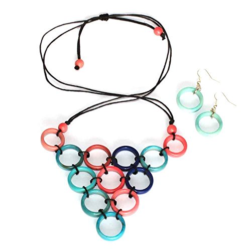 pink-and-blue-triangle-necklace-and-earring-set-of-tagua-hand-knotted-bib-fair-trade-eco-jewellery