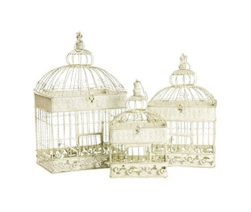 Lot de 3 cages en fer blanc