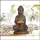 Solar-LED-Lampe Buddha, Lunartec