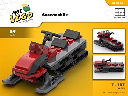 Snowmobile (Instruction Only): MOC LEGO (English Edition) Ski-moc