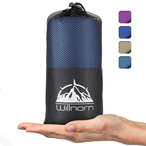 Willnorn 2in1 Hüttenschlafsack aus Mikrofaser, mit durchgängigem Reißverschlus: Leichter Komfort Reiseschlafsack und XL Reisedecke in Einem(95 * 220 cm)