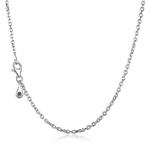Glamulet Bijoux pour femme Argent sterling 925Collier de 60cm