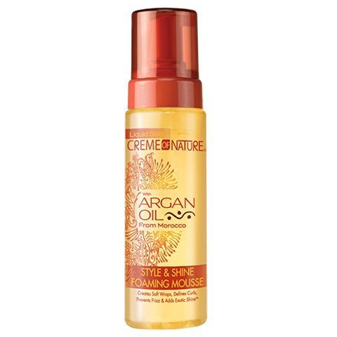 Creme of Nature with Argan Oil Style & Shine Foaming Mousse 7 fl.oz by CREME OF NATURE