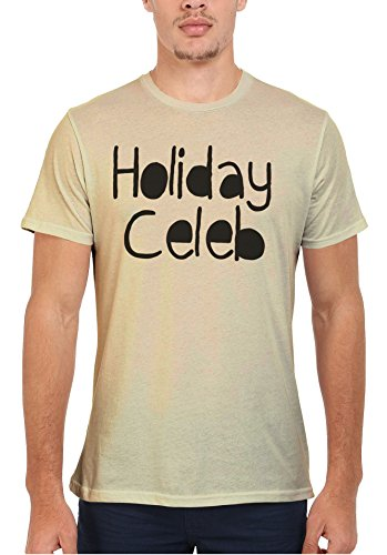 Holiday Celeb Summer Cool Funny Men Women Damen Herren Unisex Top T Shirt Sand(Cream)