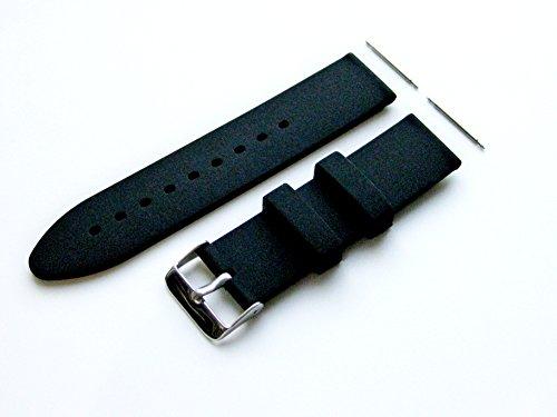 Preisvergleich Produktbild 22mm - 4 Stück Gummi Ersatzband Armband Set für Luxus,  Sport und Beiläufige Armbanduhren (B-SMFLT)