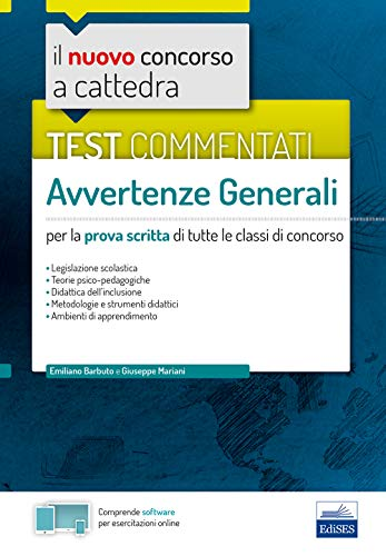 Test commentati - Avvertenze generali: per la