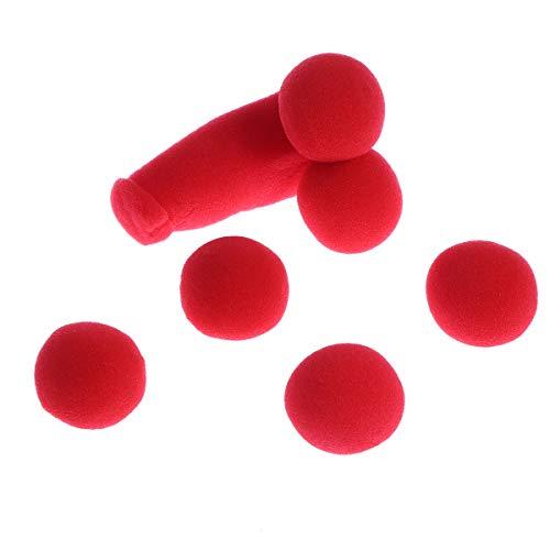 Amosfun Zaubertrick Spielzeug Schwammbälle Rote Lustige Bühne Zaubertricks 5 Stücke