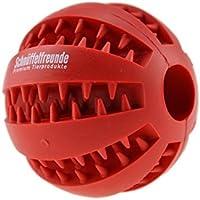 Giocattolo per cani palla in gomma naturale con funzione di