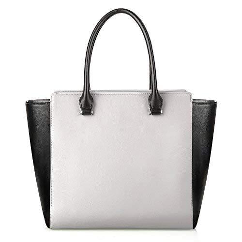 PRASACCO Handtaschen Damen Umhängetasche Henkeltasche Schulter Taschen Messenger Tote Taschen aus weichem Beutel und PU Leder - Tote Hand Schulter Tasche Handtasche