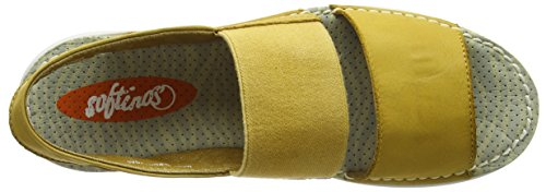 Softinos Tai383sof, Sandales  Bout ouvert femme Yellow (Yellow)