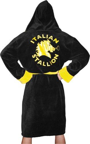 Rocky Italian Stallion Bademantel Schwarz Yellow