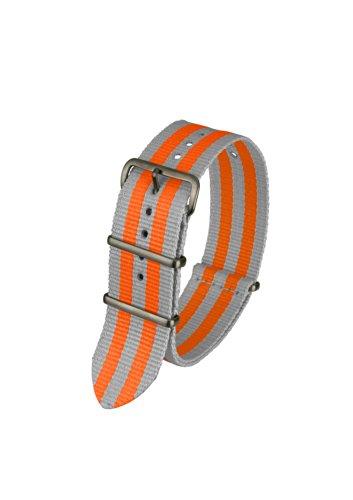 Davis–bnn3bgrey-orange-20Armband Unisex Armbanduhr–Nylon orange
